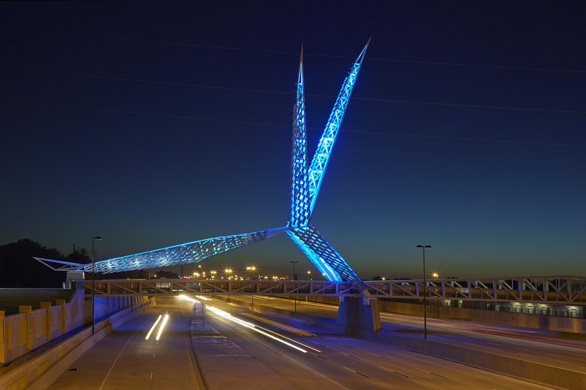 The Skydance Bridge was named one of the 11 most stunning new architecture projects: http://t.co/ivDPrYwdxI http://t.co/TsZQpK8bPv