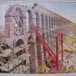 Recreación de la Construcción del acueducto de #Segovia http://t.co/RxP3SkmC1J