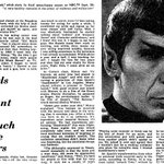 """""""Girls All Want To Touch The Ears"""" - Leonard Nimoy in The Times of 1968. http://t.co/JDsjhuPTyv http://t.co/GYd5H5ldz1"""