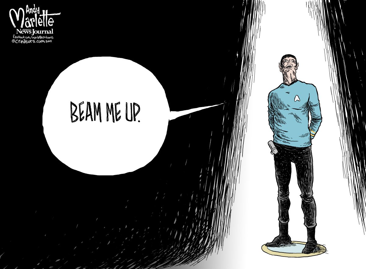 """@AndyMarlette: In tribute: Leonard Nimoy #Spock http://t.co/bejaXTymU6"" #LLAP"