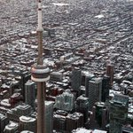 20150227 Aerial #cityofTO #Torontos #CNTower watches over downtown west @Toronto_ED @Kensington_BIA @queenstreetwest http://t.co/xiWQSOeLU4