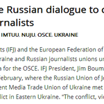 EFJ and IFJ back Ukraine Russian dialogue to counter harassment and ..... http://t.co/1cTOehuAQd vía @efjeurope http://t.co/YPYz1hAkkF