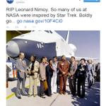 LOOK: @NASA honors Leonard Nimoy http://t.co/O8CBALty9z http://t.co/iRTgFRtc2r