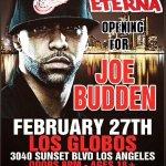 #LA TONIGHT @JoeBudden with @DjEterna opening   18+ Doors 8PM   Tix---> http://t.co/KjOxXs8A6F http://t.co/OdEzyTzef1