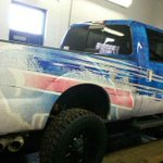 Check out Rex Ryans new customized pickup truck, complete with the Bills logo. (via @ShakeNBakez) http://t.co/8l1vTc9HG5