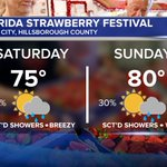 Keep your wet weather gear handy this weekend @ the #FL Strawberry Fest #Tampa #StPete #Sarasota http://t.co/7bTdJcXMgS