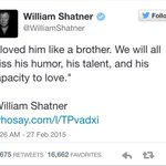 William Shatner, Zachary Quinto, Nathan Fillion and more remember Leonard Nimoy. #RIPLeonardNimoy http://t.co/x9DpisO4qR