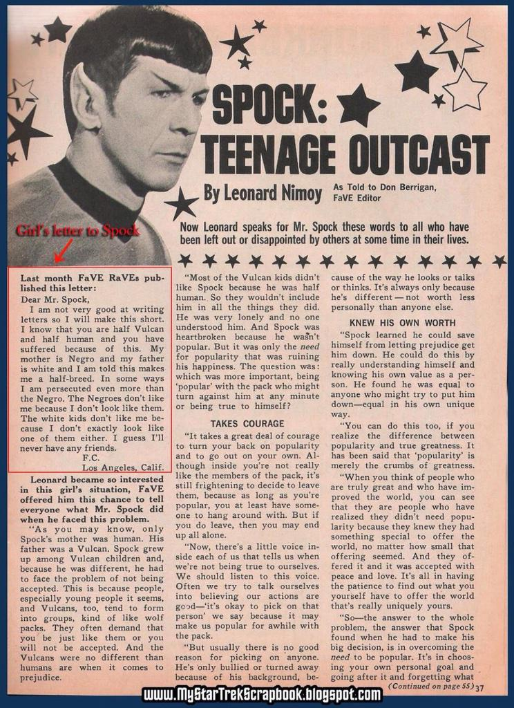 Leonard Nimoy's answer to a mixed girl who wrote to Mr. Spock is pretty cool http://t.co/cbxEk80wGU ht @pourmecoffee http://t.co/a6UPTHb3iK