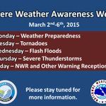 @NWSWichita: Severe Weather Awareness Week: Look 4 posts all week to help u get ready for the upcoming season. #kswx http://t.co/aQGmQyFFW0