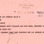 Leonard Nimoy sent a telegram to JFK in 1962, urging him to rethink nuclear space tests. http://t.co/dwRK4pXcee http://t.co/wPjT1xaBzg