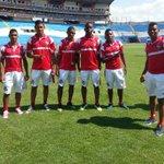 Imágenes del reconocimiento de cancha del estadio Olímpico Metropolitano de San Pedro Sula. http://t.co/Cv1wUNKuuT