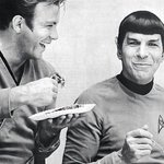 Probably my favourite picture of Leonard Nimoy. His eyes, voice & poise were majestic. LLAP all. http://t.co/W6R59Kud8Q