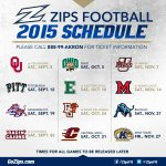 ???? MAC announces 2015 Akron Zips Football Schedule ???? STORY: http://t.co/7FcbICcGuW http://t.co/eib1YPTun2