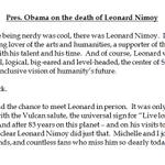 "Pres. Obama: ""I loved Spock"" -- http://t.co/uL8qI3L8yg http://t.co/NTjJDZlJvu"