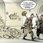 RT @chappatte: L'Etat Islamique dévaste le Musée de Mossoul - © Chappatte dans Le Temps, Genève