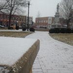 Snowy Bentonville Square. Pretty, but chilly! #4029WinterBlast http://t.co/TYRx5Hc9ai