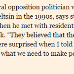 Boris Nemtsov, shot in Moscow tonight, speaking about Putin in yesterdays @FT http://t.co/flzFmvOabb http://t.co/fDvu5uzY59