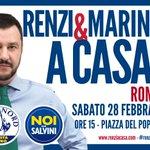 Twitter / @matteosalvinimi: QUESTO SABATO. 28 FEB. ROM ...