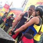 El campeón le da consejos a @JulissaC7tc antes de la competencia ¿Foto futura de campeones? #LaCampeonaEs http://t.co/GMLjhNBVHX