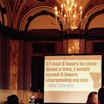 My favorite quote from #SearchFest today! #Planning is key to #contentmarketing @SEMpdx @MikeRamsey http://t.co/8GhGKMjRM7