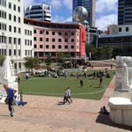 Wellington seems to have acquired a Village Green, complete with band rotunda and cricket oval! http://t.co/nonQ6x7rGi