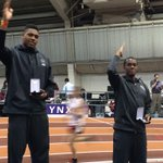 Jalen Ramsey and Paul Madzivire chop it up on the podium after their 1-3 long jump finish #Noles #ACCITF http://t.co/Ni6eqYtmUz
