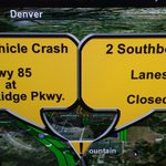 Traffic Alert: A multi-vehicle crash on Hwy 85/87 at Mesa Ridge Pkwy. has two southbound lanes closed. http://t.co/0hY1qn9Aal