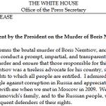 Statement by the President on the Murder of Boris Nemtsov: http://t.co/NqPmRcRhIO