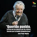 """#GraciasPepe   Mujica: """"Donde esté estaré contigo, gracias querido pueblo""""   http://t.co/QhUAqZBUzP http://t.co/5wYw53dwlf"""