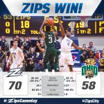 A solid WIN for the Zips tonight over the Bobcats! #ZipsCity #ZipsGameday http://t.co/3mXfAJKttl