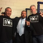 The #Kliq returns to @TheGarden @SCOTTHALLNWO @RealKevinNash #CurtainCall #WWEMSG http://t.co/uex55bJtSR