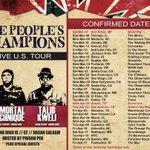Giving away 2 VIP tickets to #PeoplesChampionsTour to the city of your choice. All you have to do is RT the flyer! http://t.co/JZt1UcS8rd