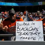 Clearly only one set of fans happy right now in Auckland! @BLACKCAPS #cwc15 #AUSvNZ http://t.co/ktdfdkMDNm
