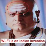 Wifi is an Indian invention? But the signal seems pretty weak -- only 3 bars, & upside down! http://t.co/hguKGD2CFe