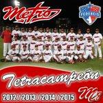 METRO TETRACAMPEÓN!!!! 2012, 2013, 2014 Y 2015 http://t.co/LNiqVS7C6c