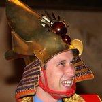 Prince William dresses as a samurai warrior during a visit to historical drama in Japan http://t.co/RgtKK3wKmJ http://t.co/1vhJCJ8dpG