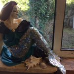 Have you seen Dublins Lady on the Rock statue in peoples windows? Shes had a makeover http://t.co/buIryIqKQ6 http://t.co/Y3KV9Sk7Us