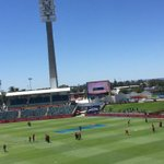 And the UAE boys get ready for the match on the side of WACA. @Sport_360 #cwc15 #INDvsUAE http://t.co/NVotXCRrkt