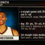 Russell Westbrook has posted one of the best individual months in NBA history. http://t.co/JyC01NAPpI