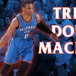 Russell Westbrook is RIDICULOUS! Westbrook records a triple-double for the 3rd consecutive game, 5th this season. http://t.co/nULdtXlpyl