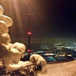 Good night #Denver from #mwxl atop 7377 Lookout Mtn. A generous helping of snow here and 11°F #cowx http://t.co/vrY2zufUSj