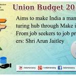 Manufacturing Hub through #MakeinIndia: Shri @arunjaitley #बजट2015 #Budget2015 #SabkaBudget http://t.co/Cyvg0xCrSR