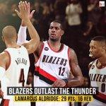 The Blazers outlast the Thunder 115-112 behind @aldridge_12's 29 points! http://t.co/mzvj7BYHHU
