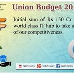 World Class IT Hub: : Shri @arunjaitley #बजट2015 #Budget2015  #SabkaBudget http://t.co/4eZxZ2zyAx