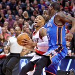 Rapid Reaction: Stealing the Show ... Westbrook gets 5th triple-dbl, #Blazers win, 115-112 http://t.co/5IaDiLWS8P http://t.co/PIeEX18YCS