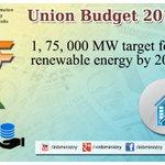 Renewable Energy: Shri @arunjaitley #बजट2015 #UnionBudget2015 #SabkaBudget #Budget2015 http://t.co/c0pPxuXexQ