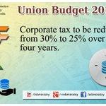 Corporate Tax: Shri @arunjaitley #बजट2015 #UnionBudget2015 #SabkaBudget  #Budget2015 http://t.co/GzCuKz9Hwp