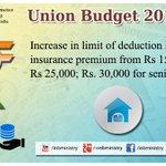 Increase in limit of deduction in health insurance premium- Shri @arunjaitley #बजट2015 #Budget2015 #SabkaBudget http://t.co/edQniDHmhm