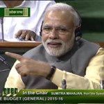 """PMs reaction when FM stated """"Yoga included in the ambit of charitable purposes under Income Tax Act"""" #SuperBudget http://t.co/nqE7MGcgtY"""