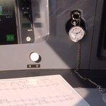 "In the cockpit of Japans famous ""bullet train"" - conductors watch keeps it running like clockwork #RoyalVisitJP http://t.co/RYJYpIBPuL"